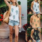 Fashion Summer Casual Sleeveless Vest Tee Tops Cactus Printed Tank Tops Blouse *