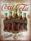 Coca Cola, Retro metal Sign vintage / man cave / kitchen / pub / bar A4 A5 A6 tweedehands  verschepen naar Netherlands