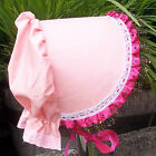 Victorian Style Bonnet PINK with a Sparkle Girls size