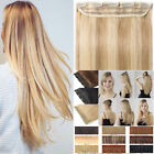 Straight Full Head 5 Clips One piece Clip in 100% Real Human Hair Extensions 80g