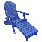 yellow adirondack chair - Deluxe Outer Banks Poly Adirondack Chair w/ Integrated Footrest- Standard Colors