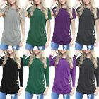 Womens Loose Pullover T Shirt Short Sleeve Cotton Tops Lady Blouse Plus Size