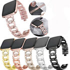 Lady Stainless Steel Rhinestone Watch Band Wrist Strap for Fitbit Versa Tracker image
