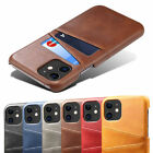 Slim Leather Case Credit Card Slot Cover For Iphone 12 11 Pro Xs Max Xr X Se 7 8