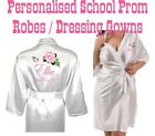 Personalised School Prom Satin Silky Robe / Dressing Gown - Get Ready in Style