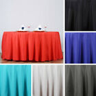 "5 pcs 132"" ROUND POLYESTER TABLECLOTHS Extra Wide Wedding Tabletop Linens SALE"
