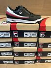 Fila Mens Original Tennis Classic Sneakers Black White And Red