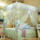 Mesh Summer Dream 4 Corners Post Bed Canopy Mosquito Net Twin Queen King Size image