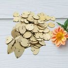 Wooden Button Slices Embellishments Heart Round Star Shape for Card Making