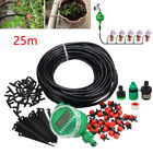 Irrigation System Water Timer Controller Sprinkler Drippers 25M Drip Hose Kit US