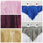 """72x72"""" Square Pintuck TABLE OVERLAY Wedding Party Linens - FREE SHIPPING"""