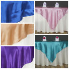 """60x60"""" Square SATIN Overlays Wedding Party Reception Dinner Catering Decorations"""