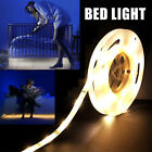 1x 2x Flexible Motion Activated Bed Light LED Strip Sensor Night Lamp Warm White