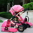2018 Baby Stroller 3 in 1 travel system Bassinet Combo buggy Pushchair&Car Seat