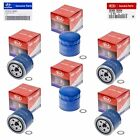 Set Of 6 Genuine OEM For Hyundai Oil Filter 26300-35504, Plug Gasket 21513-23001