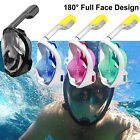 Easy Breath 180° Seaview Panoramic Full Face Snorkel Mask Anti Fog For GoPro 4 5