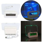 New LED Light Fluorescent Message Board Digital Alarm Clock Calendar Timer Gift