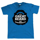 With Great Beard Comes Great Responsibility, Mens Funny T Shirt - Gift for Dad