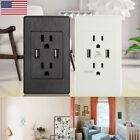 2 usb port electrical outlet panel wall
