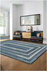 """Capel Rugs """"Alliance"""" Concentric Soft Cotton Chambray Country Braided Rug"""