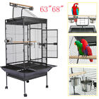 "63""68"" Bird Cage Large Play Top Parrot Finch Cage Macaw Cockatiel Cockatoo"