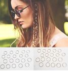 20 hair hoops braid rings dreads clip