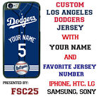 Los Angeles Dodgers Baseball Phone Case Customized for Samsung s9 s8 Note 8 etc