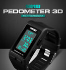 SKMEI Men's Shockproof Sports Watch 3D Pedometer Digital Wrist Watch Waterproof