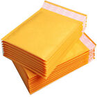 Padded Bubble Postal Bags Envelopes Mail Bags Yellow Brown  Sizes  90x145mm