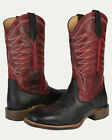 Noble N65023 Mens Black/Red Rugged Square Toe Boot FAST FREE USA SHIPPING