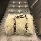 Gigi - Luxurious Shaggy Faux Fur Throw Blanket with a Belt - Available in 12 Col