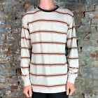 Brixton Hilt Long Sleeve Knit T-Shirt Tee  – Stone in Size S