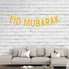 Eid Mubarak Ramadan Kareem Glitter Banner Wall Decoration Gold Happy Eid Bunting