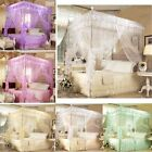 Bed 4 Corner Place Canopy Mosquito Netting King Queen Twin Size Or Frame(Pillar)
