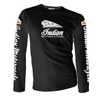 Indian Motorcycle Long Sleeve T-shirt Front Rear and Sleeve Print Sizes S - 5XL