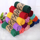 New Style Lady Women Scarves Long Soft Cotton Scarf Wrap Shawl Stole