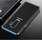 Luxury Ultra Slim Shockproof Silicone Clear Case Cover for Samsung Galaxy S8 S9 <br/> Genuine Exclusive Case | Clear Case with Metallic Touch