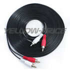 Short/Long 2 RCA- 2 RCA Phono Stereo Audio Cable Cord Male to Male- TV CD MP3 US