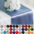"12 pcs 12"" x 108"" Satin Table Top Runners Wedding Party Linens Free Shipping"