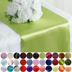 """20 12"""" x 108"""" Satin Table Top Runners Wedding Party Linens - Free Shipping"""