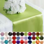 "20 pcs 12"" x 108"" Satin Table Top Runners Wedding Party Linens Free Shipping"