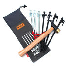 Hammer Wind Rope Tent Pegs Nail Storage Bag Outdoor Camping Tent Accessories Bea