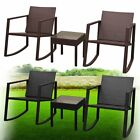 2 Seater Rocking Chair Garden Furniture Patio Outdoor 1 Table Set Poly Rattan
