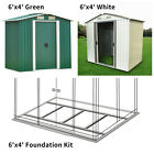 6' x 4' Garden Storage Shed Steel Garage Utility Tool Outdoor Lawn Foundation