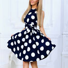 vestidos de xv 2013 - Summer sleeveless O-neck vestidos Women elegant dot printing dresses Sweet dress