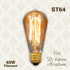 E27 Filament Light Bulb 40W Edison Vintage Squirrel Cage Decorative Industrial