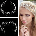 New Vintage Faux Crystal Pearl Tiara Drop Bridal Headband Wedding Hair Accessory