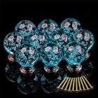 Modern Crystal Glass Cabinet Knob Bubble Round Ball Drawer Cupboard Handle Pulls
