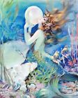 Clive Fantasy Mermaid Dreams Crazy Quilt Block Multi Szs FrEE ShiP WoRld WiDE