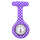 Nurse Watch Patterned Silicone Brooch Tunic Fob Watch With Free Battery Best